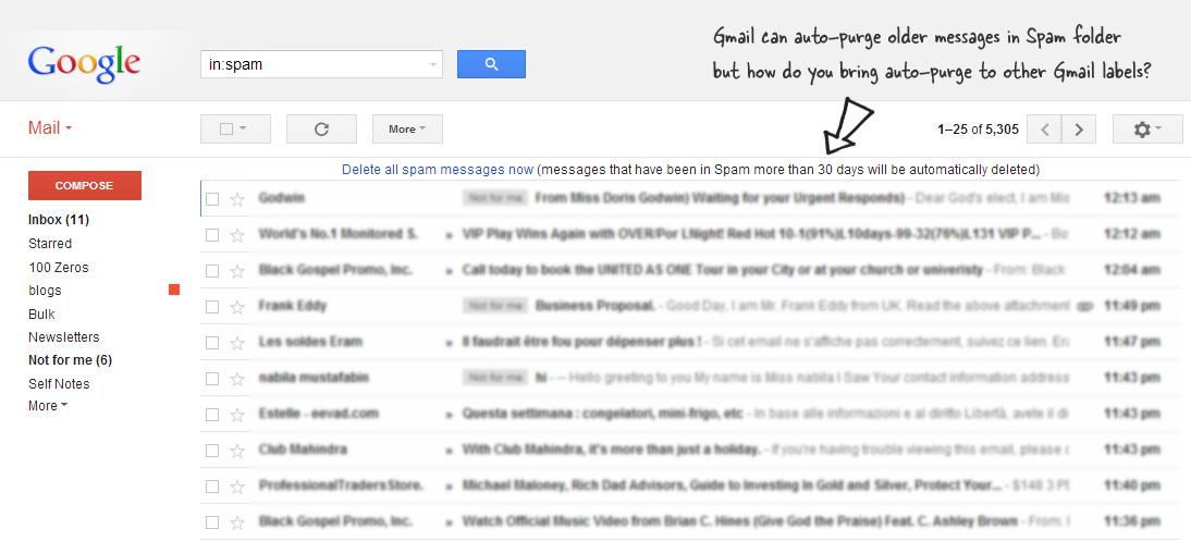 Gmail Auto Purge