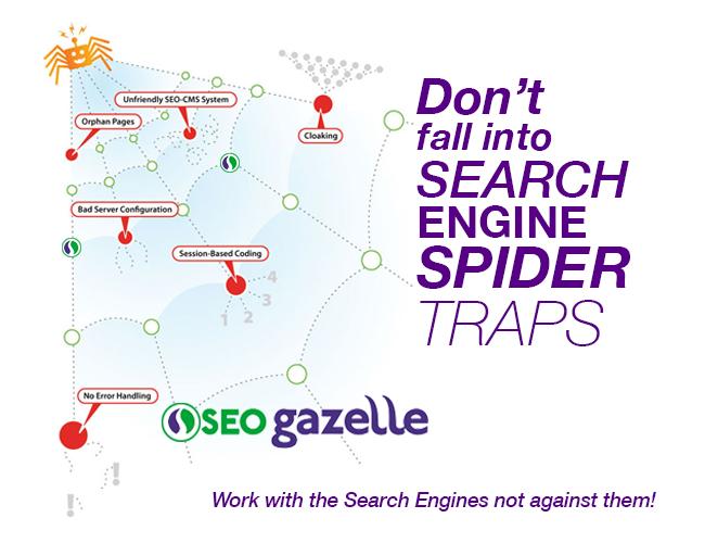 seo gazelle spider link diagram